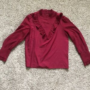 Ann Taylor ruffle blouse, like new.